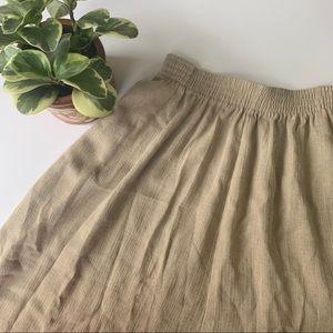 • vintage linen midi skirt •
